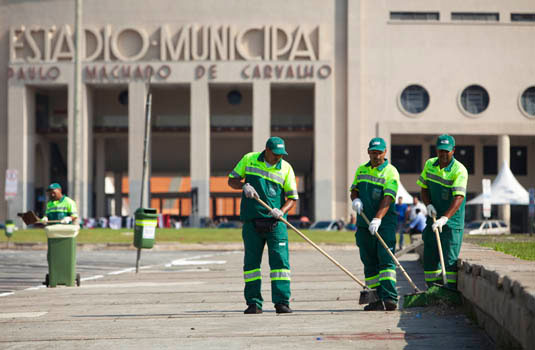 Limpeza urbana em São Paulo - SP.
