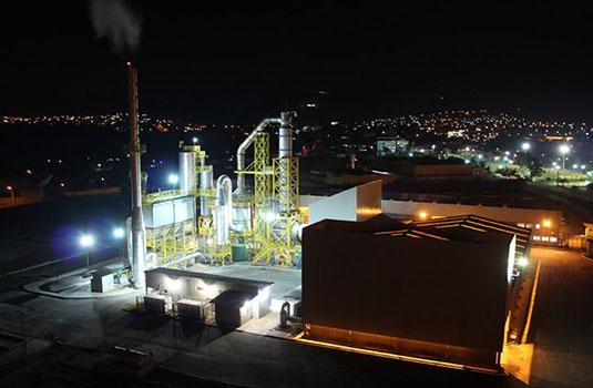 Usina de incineração de resíduos industriais em Sarzedo - MG.